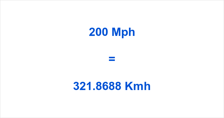 200 Kph To Mph >> 200 Mph To Kmh 200 Miles Per Hour To Kilometers Per Hour