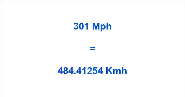 301 Mph to Kmh