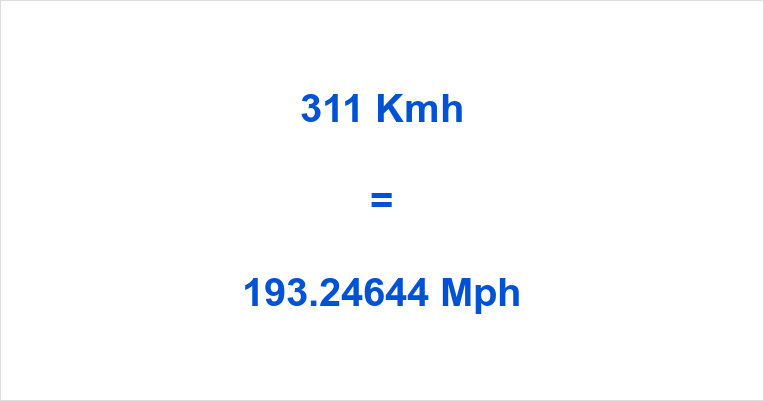 Any Feedback On 311 Kmh Mph Is Welcomed And Can Be Left Using The Comment Form At Bottom If You Like Also Send Us An Email With Km H