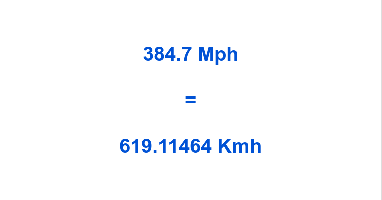 384.7 Mph to Kmh