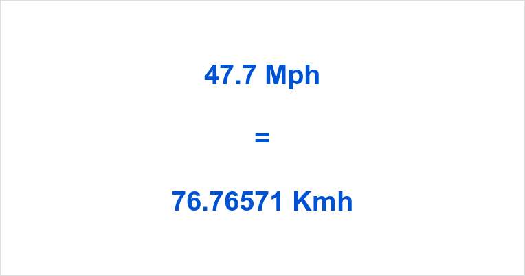 47.7 Mph to Kmh