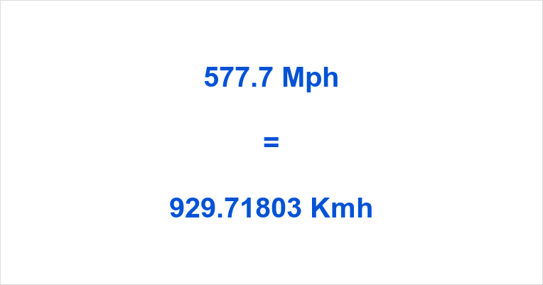 577.7 Mph to Kmh