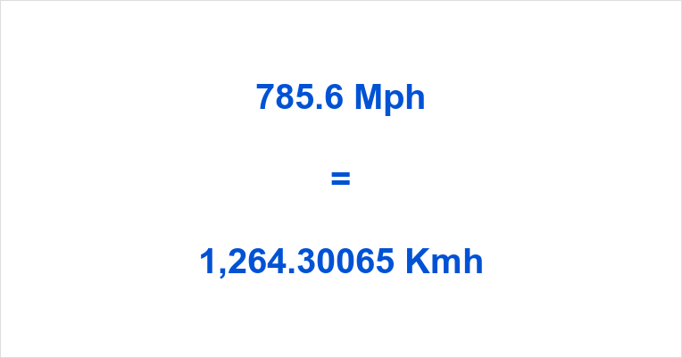 785.6 Mph to Kmh