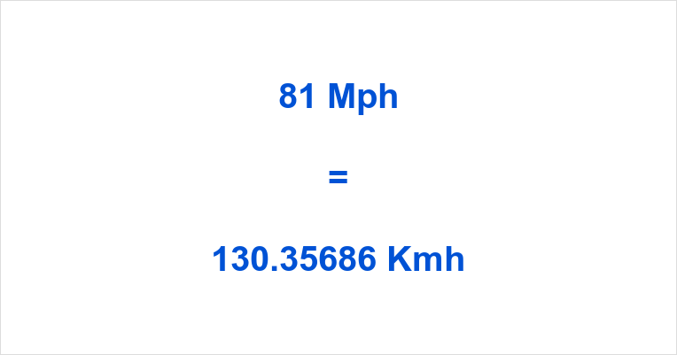 81 Mph to Kmh