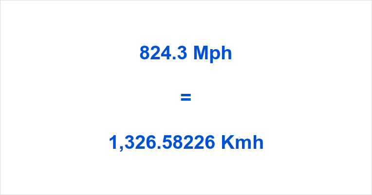 824.3 Mph to Kmh