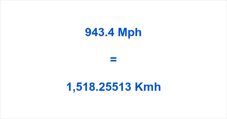 943.4 Mph to Kmh