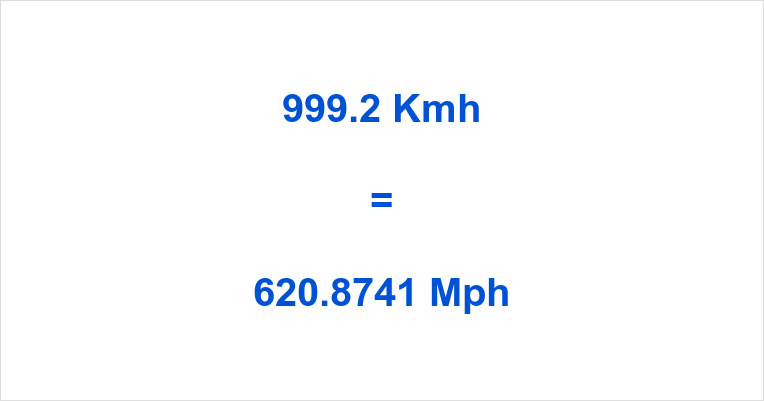 999.2 Kmh to Mph