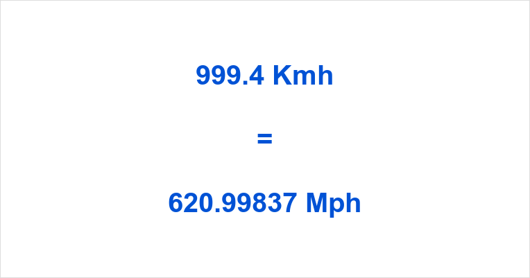 999.4 Kmh to Mph