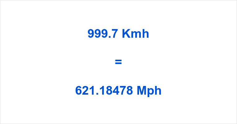 999.7 Kmh to Mph